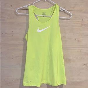 Nike neon yellow tank top